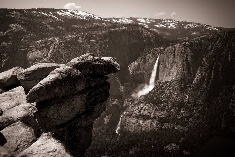 Yosemite, Glacier Point Yosemite National Park Yosemite Yosemite National Park, California Mountain Nature Outdoors Beauty In Nature Great Outdoors-EyeEm Awards 2017 Blackandwhite Black And White Monochrome Eye4photography  Light And Shadow No People EyeEm Gallery Fine Art Photography Black And White Photography Black & White Selective Focus Blackandwhite Photography Lost In The Landscape Check This Out Waterfall Live For The Story Breathing Space