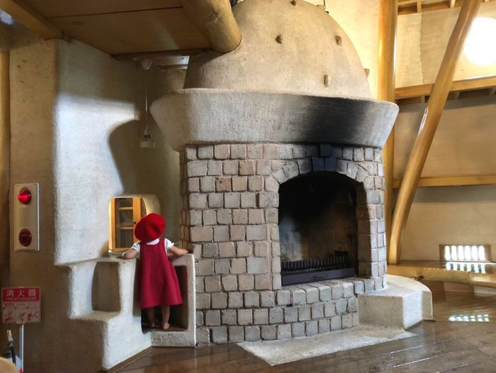 A little Red Dwarf in Moomins' House. Red Travel Fairytale  Tadaa Community Room Akebononomori Park Moomin Child Architecture Built Structure Indoors  No People Arch Red Day