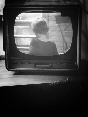 When the past has a magic power on what you are. Vintage tv Fifties Black And White