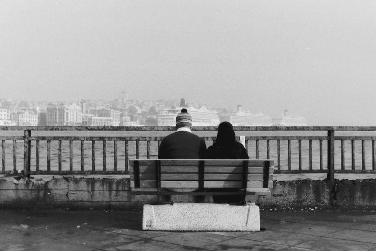 Analogue Photography Blackandwhite Couple Friendship Hut Islam Istambul Lifestyle Lifestyles Outdoors Relationship Sea Sea And Sky Seascape Seaside Streetphotography Symmetry Turkey Winter