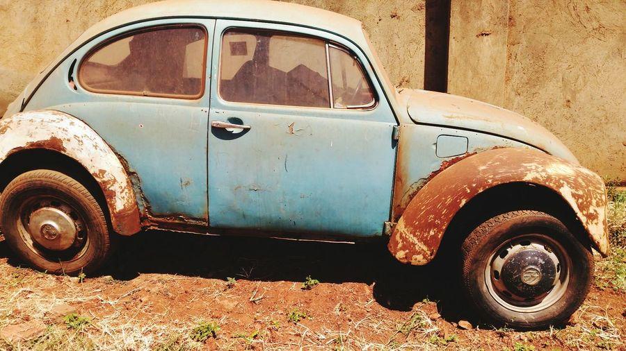 Vintage VW Beetle pale blue Rusting Car Classic Car Scrap Car Restoration Project Vintage VW