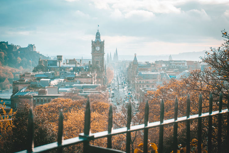 scotland Backpacking City Cityscape Cloudy Edinburgh Scotland Streets Travel Autuum Landscape Sky Streetstyle