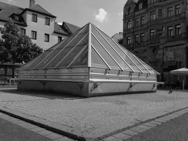 Urban Geometry Show Me Your Country Standerd (foreigner Imagine) Pyramid Standing Outside The Box