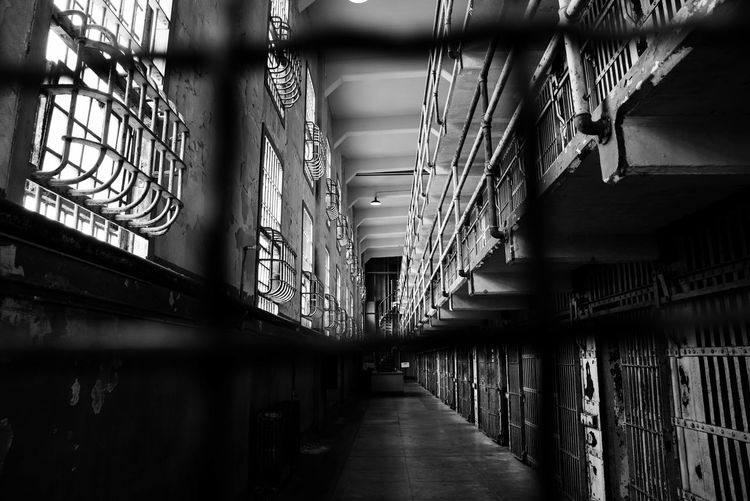 Alcatraz Architecture Built Structure Corridor Day Indoors  No People The Way Forward Trapped