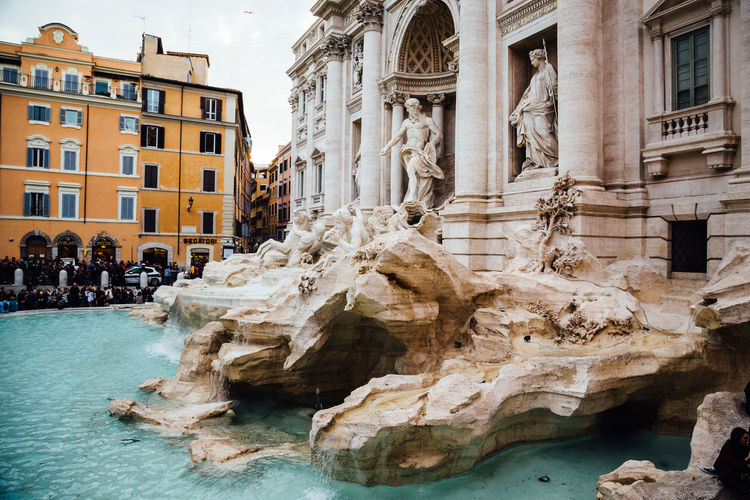 Trevi Fountain Trevi Fountain Architecture Building Building Exterior City Fountain Human Representation Representation Sculpture Tourism Travel Travel Destinations Water