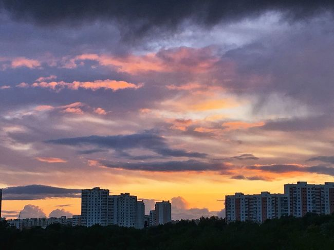 Colors of sunset Building Exterior Architecture Cloud - Sky Sunset Sky City Cityscape Urban Skyline No People Multi Colored Colorful Clouds Clouds And Sky Building Moscow City Moscow Sky_collection Sky And Clouds Sunset And Clouds  Sunset_collection Sky And City Sky Collection Sunrise_sunsets_aroundworld Orange Sky The Week On EyeEm