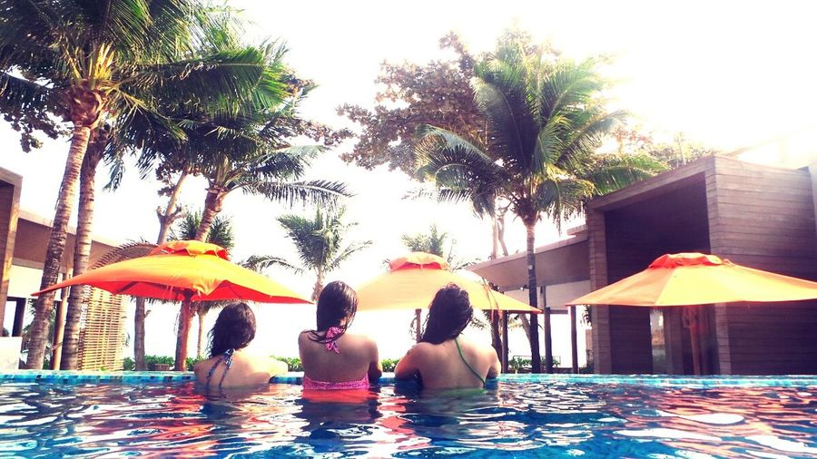 Holiday with sisters.