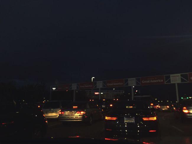 nothing but long car rides & long traffic Greatamerica Santaclara First Eyeem Photo
