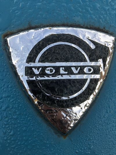 Old VOLVO Logo Old Logo Volvo Volvo Logo Communication High Angle View Shape Water Sign Day Geometric Shape