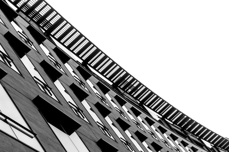 Low Angle View Built Structure Architecture Building Exterior Looking Up Lookingup Office Building Blackandwhite PhotographyArchitectural Monochromatic Bnw Black & White Contrast London Architecturelovers The Architect - 2017 EyeEm Awards