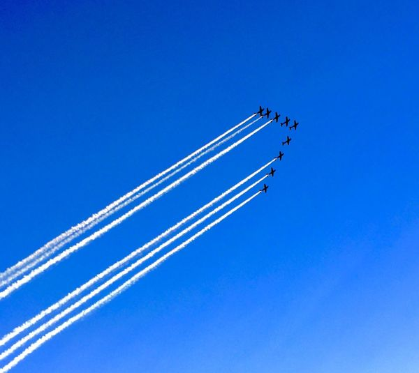 Patrouillesuisse Greetings Airshow Minimalism IPSMinimal Blue Sky Condensation Greet From The Air Dancing Air Plane Ladyphotographerofthemonth Eyem Best Shots Simplicity Deceptively Simple From My Point Of View Hello World Everything In Its Place Blue Wave Perspectives On Nature