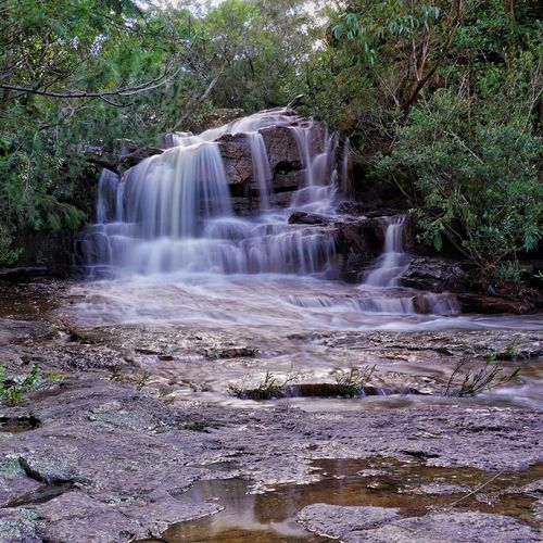 This Gorgeous Waterfall is only 30 mins from my home. The next fall is about 15m in length. Kelly's Falls Helensburgh NSW Australia Wollongong  Water Reflections Water Cascading Nature_collection Showcase June