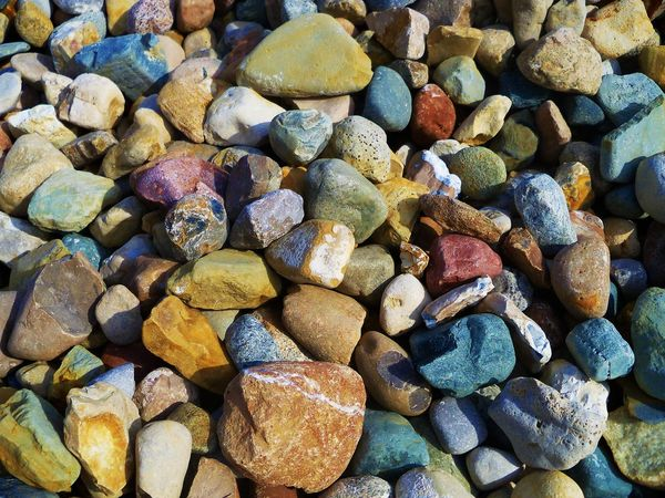 Quarry rocks left behind by glaciers Abundance Backgrounds Beach Day Full Frame Glacial Rocks Large Group Of Objects Multi Colored Nature No People Outdoors Pebble Pebble Beach Quarry Quarry Rock Rocks Stones