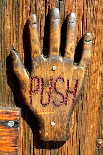 Hand Made Handcraft Handsign Woodenhand Wood - Material Brown Close-up Single Word