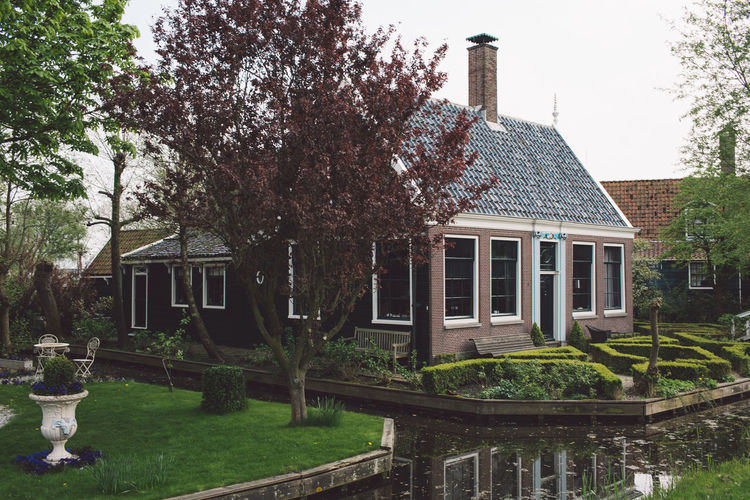 Architecture Dutch Countyside Trees Canal Dutch House Outdoors Springtime