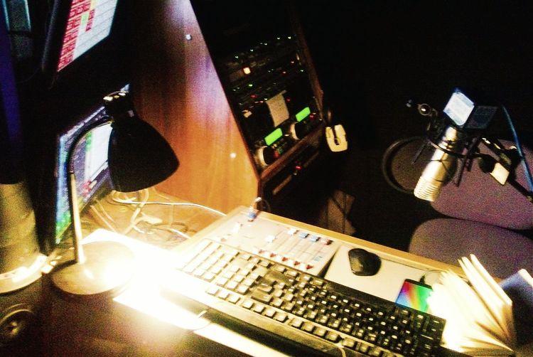 Radio suite, FAB radio international studio. Radio Broadcasting Microphone Studio Radio Station Audio Gear Manchester