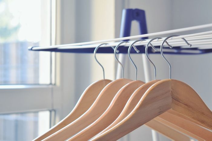 Dry Clothes Room House Home Work Object Close Up Coathanger Hanging Store Retail  Wood - Material Fashion Consumerism Clothing Clothing Store In A Row Clothes Rack Closet