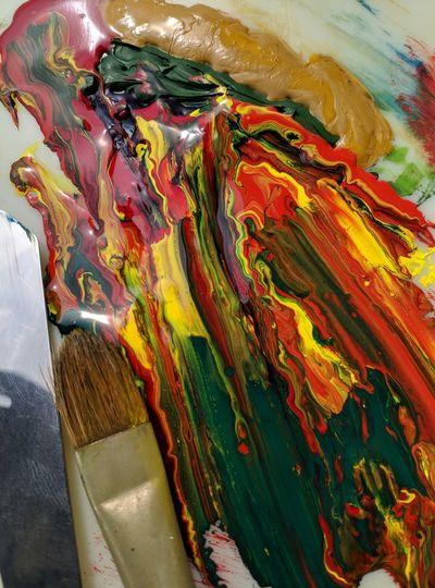 Full frame shot of multi colored art