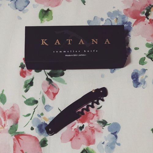 新しいソムリエナイフGET♪ 刀と言う名の日本製。 岐阜の関で作られたもの☆素敵。 Sommelierknife Katana Madeinjapan ソムリエナイフ