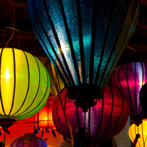 Hoi An Sightseeing Traveling Holiday Vietnam Color Explosion Hoi An Lamp Light Light And Shadow Asian Culture