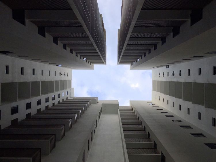 Buildings Architecture Sky VOID Space Singapore Enclosed
