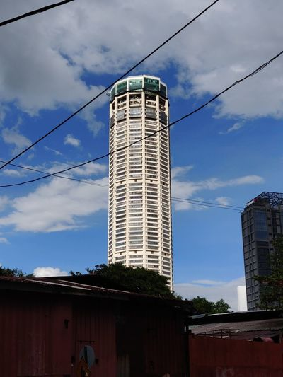Iconic Komtar Tower building Penang Malaysia Industry Business Finance And Industry Business Sky Architecture Cloud - Sky Office Building Communications Tower Building Tall - High Urban Skyline Residential Structure Tower Skyscraper Settlement Cityscape Financial District  Television Tower