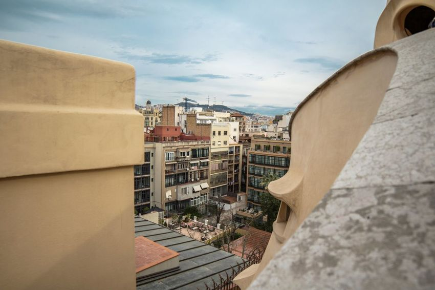 Architecture City Outdoors Building Exterior Sky No People Day Cityscape España Directly Below Travel Barcelona Portrait Of A City Turistic Places Alternative Energy Urban Skyline Balcony Travel Destinations Cityscape Architecture City Roof History Built Structure Aerial View