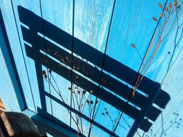 Chair shadow Chair Wood Blue Building Exterior Day Daylight Outdoors Shadow Shadows And Light Sunlight Wood - Material Wooden