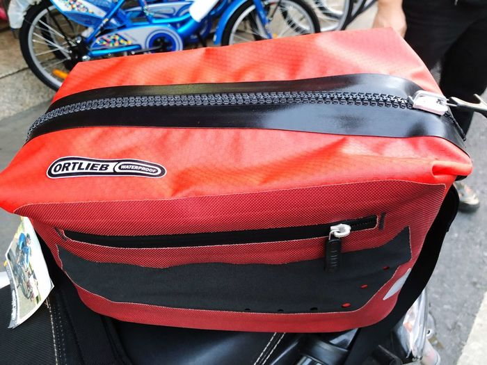 Ride Sport Red Bicycle Bag Close-up Day Red Land Vehicle Transportation Mode Of Transportation Still Life Bag Outdoors