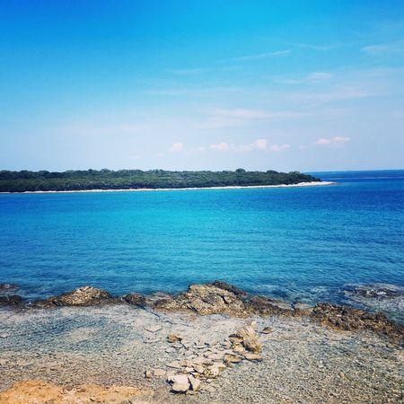 Crystal clear blueness Blue Island Residance Rock Sea Titos Water First Eyeem Photo