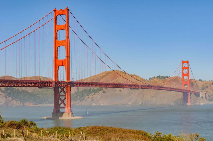 Beautiful Scenic Golden Gate, San Francisco City, California, USA. Cityscape Golden Gate Bridge Landmark North America San Francisco San Francisco Bay San Francisco Skyline San Francisco, California Tourism Destination Travel Destinations USA