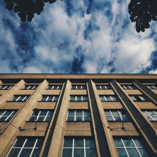 Architecture Building Exterior Window Cloud - Sky Built Structure Sky Low Angle View No People Outdoors Day VSCO Snapseed VSCO Cam Vscocam Moscow, Москва Moscow MIIT