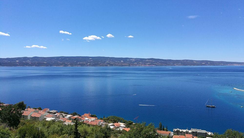 The Week On EyeEm Sea Sky Blue Water Horizon Over Water Travel Destinations Town Day Tranquil Scene Scenics Omis Croatia Island Omis