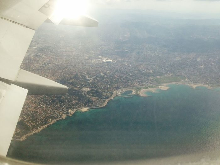 Je peux voir ma maison d'en haut 💜 Home Home Sweet Home Marseille Stadevelodrome Sea Fromthesky Airplane