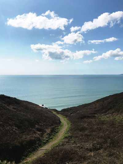 Cornish coastal walks Waterfront South West Rame Cornwall Hike Walk Path Sea Horizon Over Water Water Beauty In Nature Scenics Tranquility Nature Sky Tranquil Scene Cloud - Sky Beach Day Outdoors No People Sand Blue EyeEmNewHere