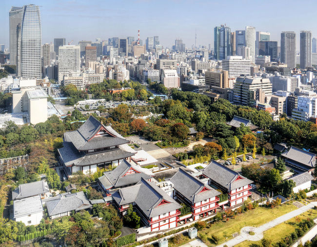 Architecture Building Exterior Built Structure City Cityscape Clear Sky Day Japan No People Outdoors Sky Skyscraper Tokyo Tokyo Skyline Tokyo Tower Urban Skyline