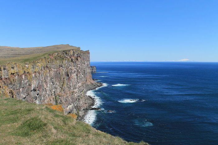 Iceland Snæfellsnes Beauty In Nature Blue Cliff Latrabjarg Nature Outdoors Scenics Sea Water