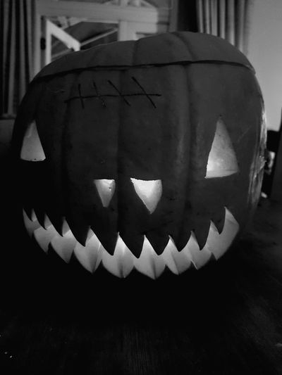 HAPPY HALLLLLLLOOOOOOWWWEEEEN!!!! Halloween Pumpkin Celebration Spooky Cultures Jack O' Lantern Art And Craft Anthropomorphic Face Holiday - Event Tradition Horror No People Close-up Jack O Lantern Indoors  Day