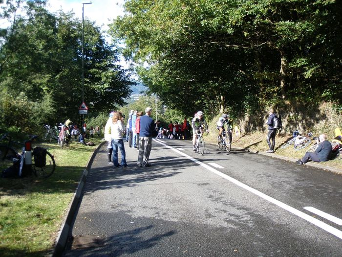 The last few over the top - Tour of Britain 2013 Large Group Of People Caerphilly Mountain Caerphilly Tour Of Britain Event Crowd Spectator Wales Tob2013 Cycling Uci Ucibikerace