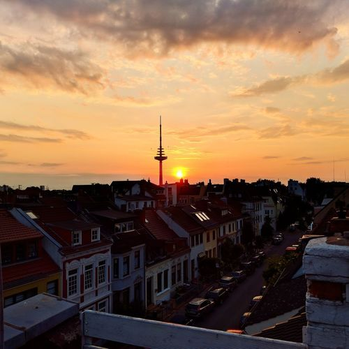 City Sunsets Sunset_collection Sunset Bremen Findorff Cityscape Cityviews Rooftopsurfer Rooftops Rooftop Rooftop Terrace Stories From The City