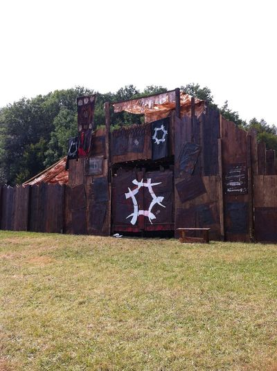 Drachenfest Larp The gate of the orc camp