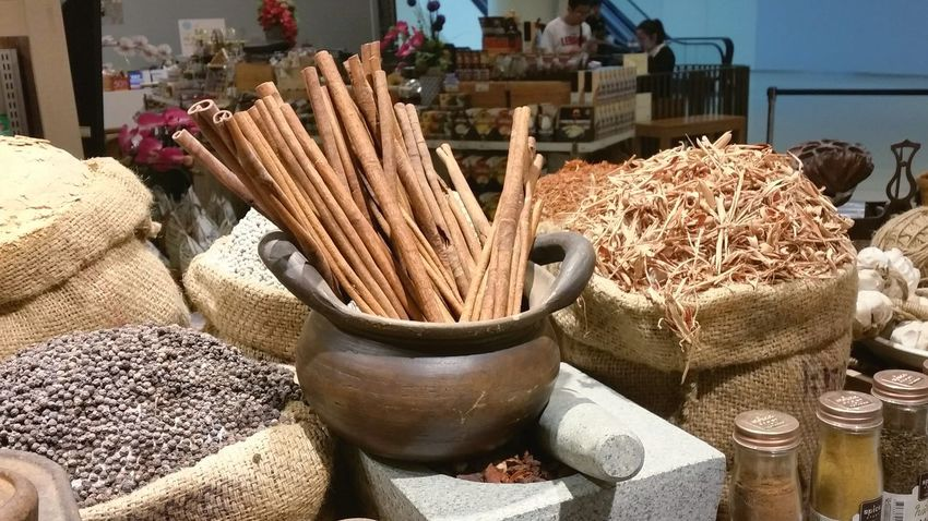 Spotted In Thailand At The Supermarket Spices Cinnamon Thailand Food Seasoning Display