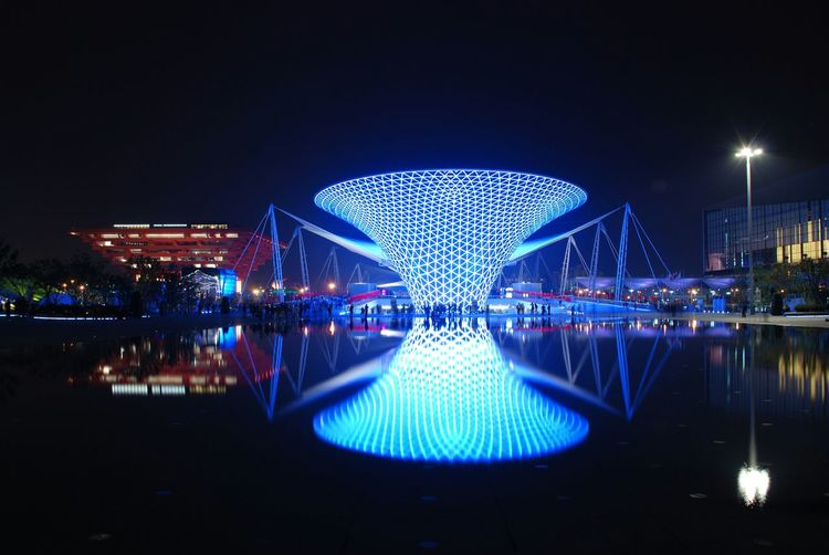Shanghai EXPO Charming Shanghai EyeEm Shanghai Shanghai Night Discover Shanghai At Shanghai Night Photography Water Reflection Expo Cityscapes I Love My City Adapted To The City