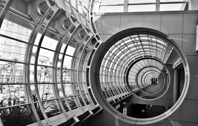 San Diego Convention Center. Black & White Architecture Tunnel View Design California San Diego San Diego Convention Center