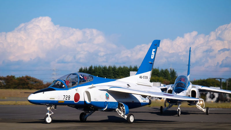 Air Vehicle Airforce Airplane Aviation Festival Blue Blue Impluse Blue Sky Fighter Flying Iruma Air Base Mid-air Military Sky And Clouds