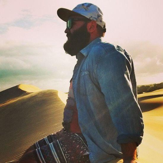 Dune chilling Beard Africa Sunnies 5panel element sun sanddunes