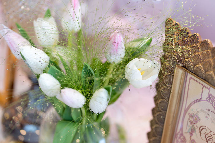 Architecture Beauty In Nature Bouquet Close-up Day Decoration Floral Pattern Flower Flower Arrangement Flower Head Flowering Plant Fragility Freshness Growth Nature No People Petal Pink Color Plant Selective Focus Vulnerability  White Color