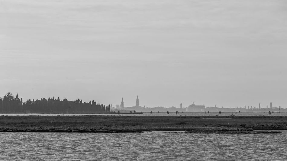 Italia Silhouette Travel Venezia Architecture Beauty In Nature Black And White Blackandwhite Building Exterior Built Structure Day Italy Landscape Nature No People Outdoors Sky Venice Water Waterfront