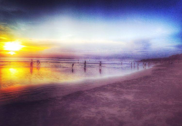 Beach Bali, Indonesia Sunset Silhouette Iphonephotography Beachphotography
