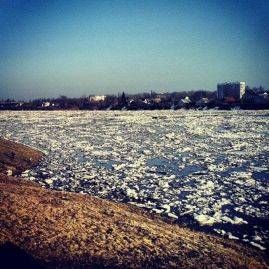 Polotsk Nature Diversities Winter Ice Weather